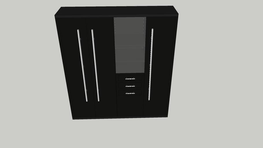 Armário e geladeira cozinha