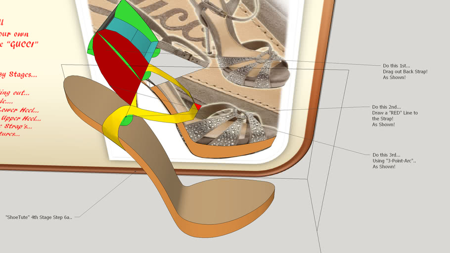 """ShoeTute""... Making the Upper Heel!... ""Back Strap""...."