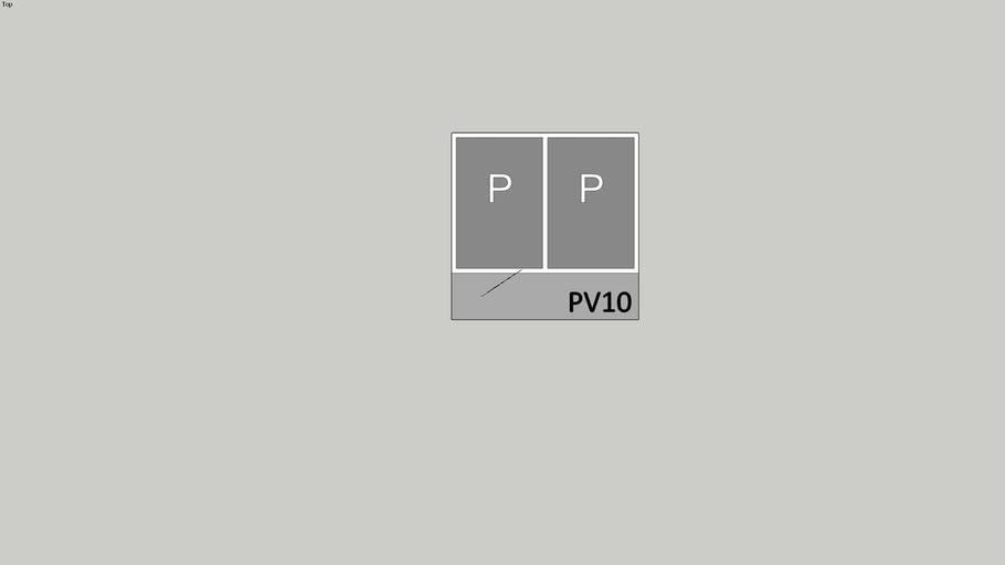 PV10 Dubbel parkeervak.