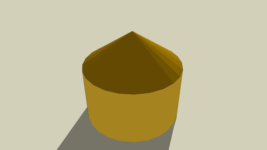graansilo met een stro dak