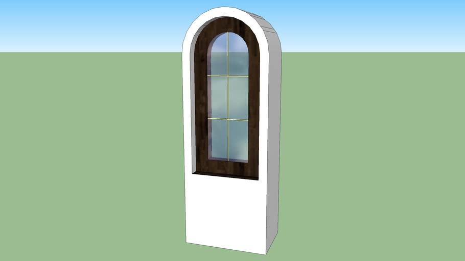 Окно-арка 82*182 см2