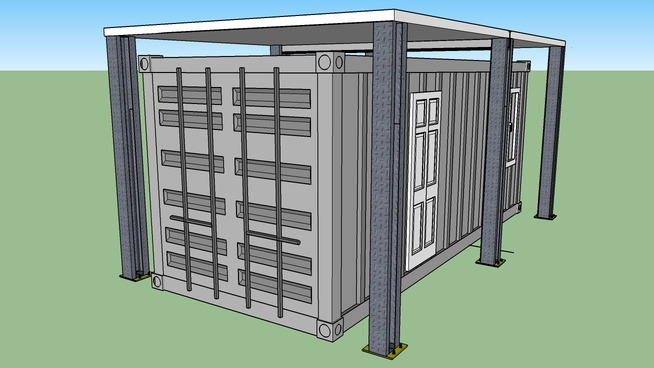 Conceptual Design for a Modul-X Containerized Housing Unit (CHU) Overhead Cover System