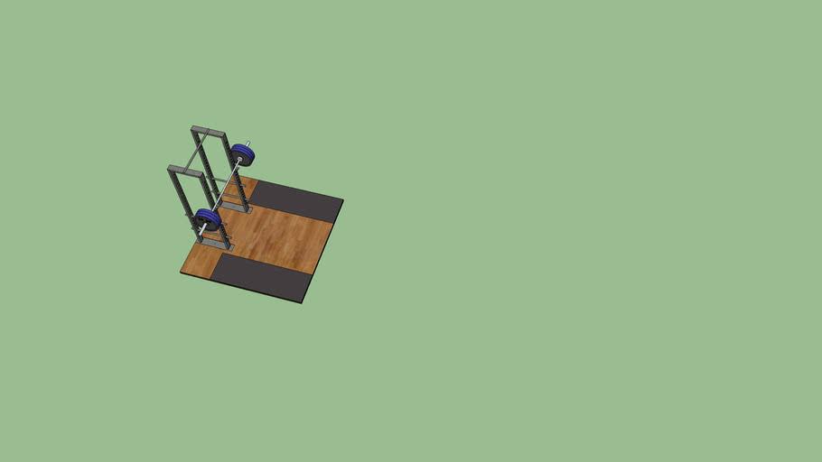 Power rack with Lifting Platform