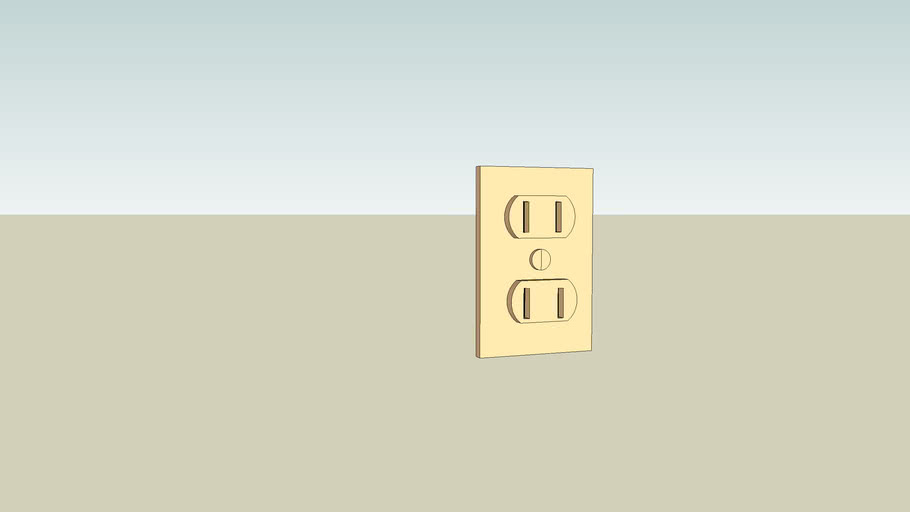 To Scale Wall Outlet