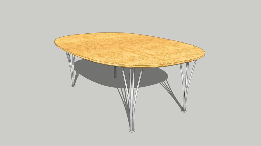 Piet Hein & Bruno Mathsson Super-Elliptical Table