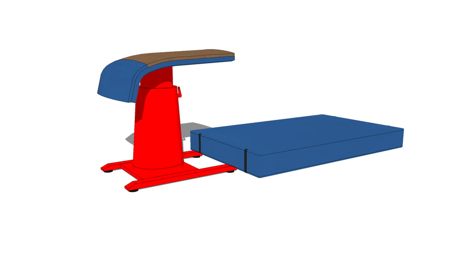 Gymnastic vault and landing mat