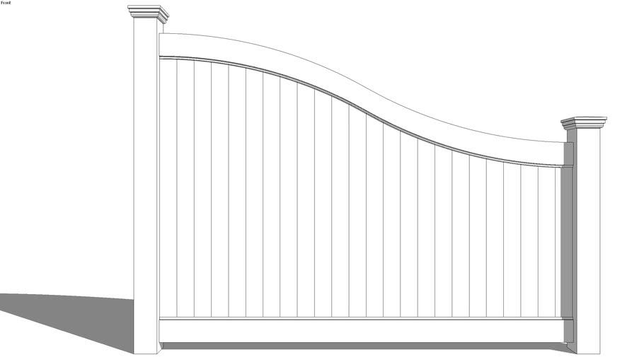 (Bufftech) Lexington S Curve Vinyl Fencing - 6 Ft. Height
