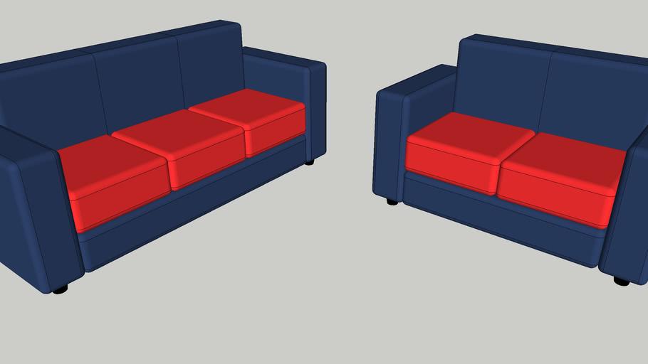 Sofá de 2 e 3 Lugares