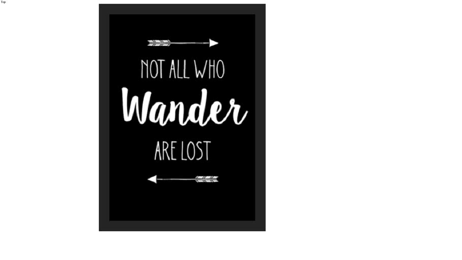 POSTER GNOT ALL WHO WANDER ARE LOST