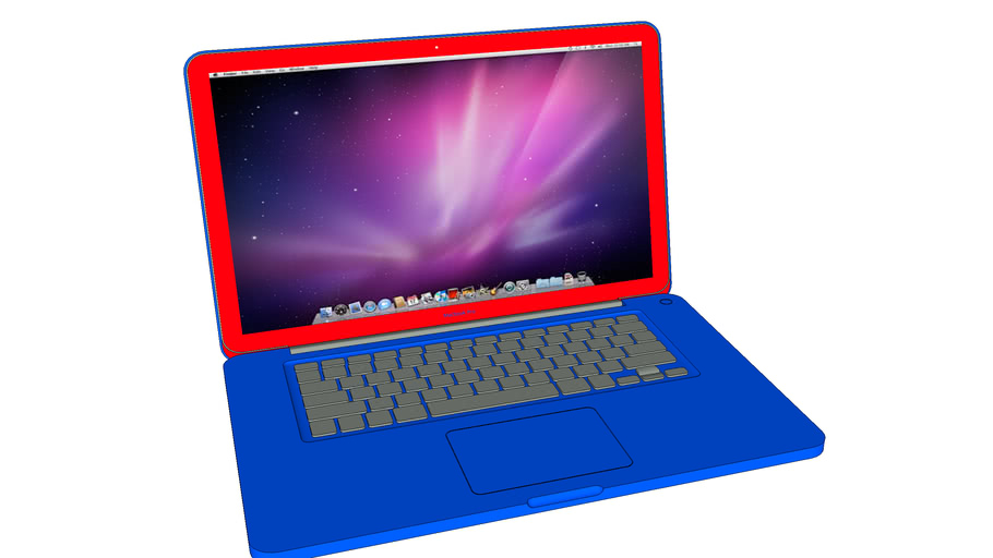 PAP- Speshal Edition MacBook Pro (Graphite Keyboard)- Red and Blue
