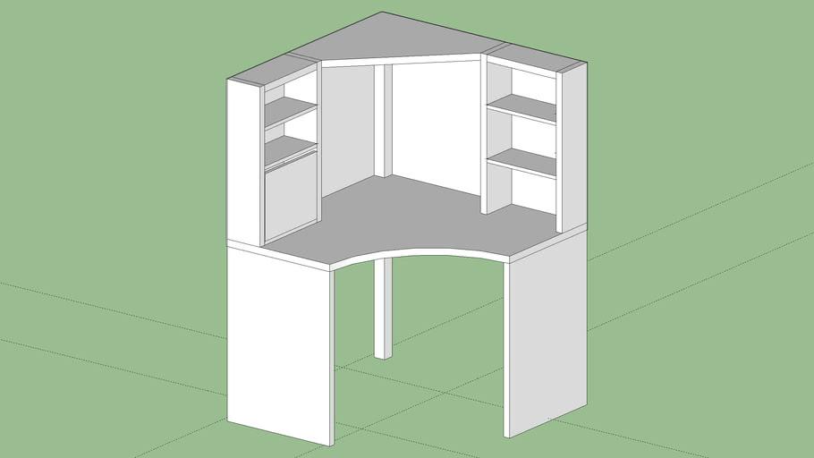 Ikea Cassettiera Con Rotelle.Scrivania Angolare Mike Ikea 502 507 13 3d Warehouse