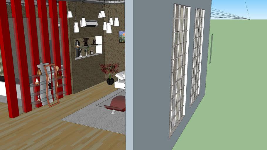 Interior Design Ruang Tamu Ruang Keluarga 3d Warehouse