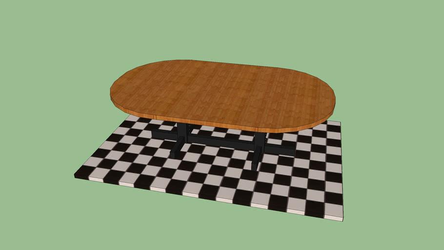 table on floor