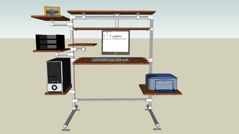 Kee Klamp Desk 3d Warehouse