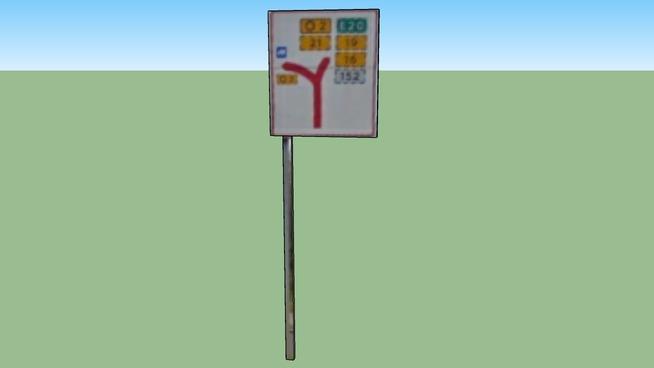 Taffic sign in Copenhagen, Denmark