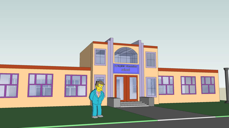 Sprinfield elementary from the simpsons