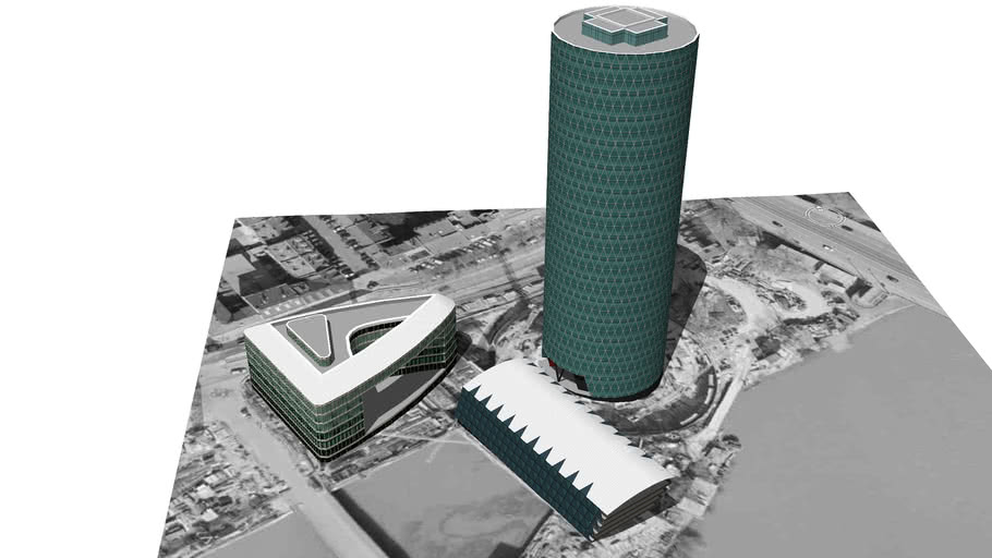 Model of the Westhafen Tower Complex