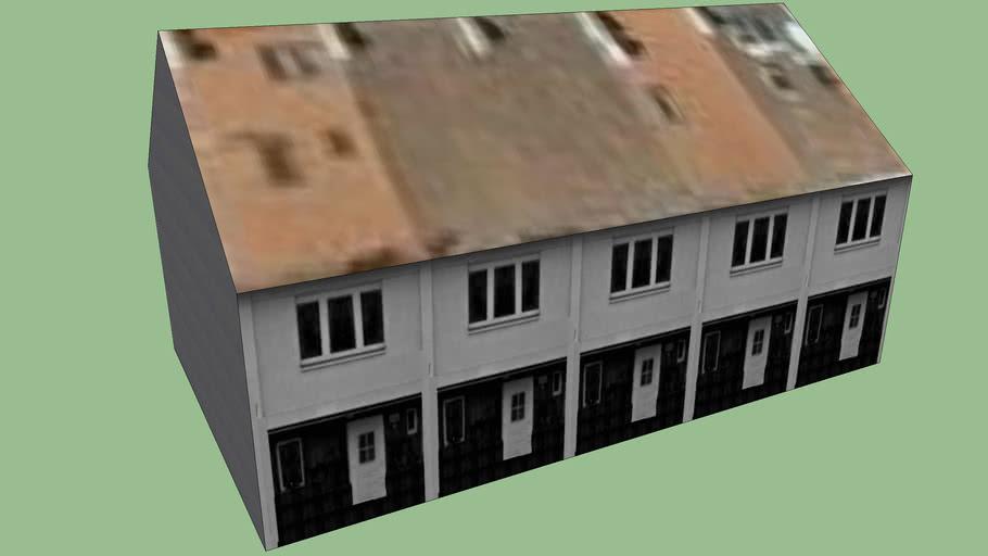 Řadové domy Dvouletky 31-39 na sídlišti Solidarita