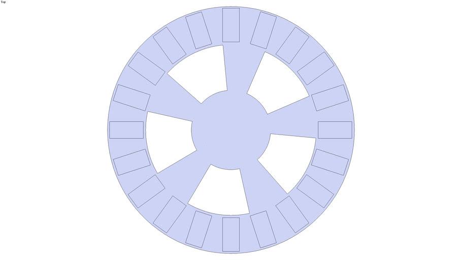 Rotore per aerogeneratore