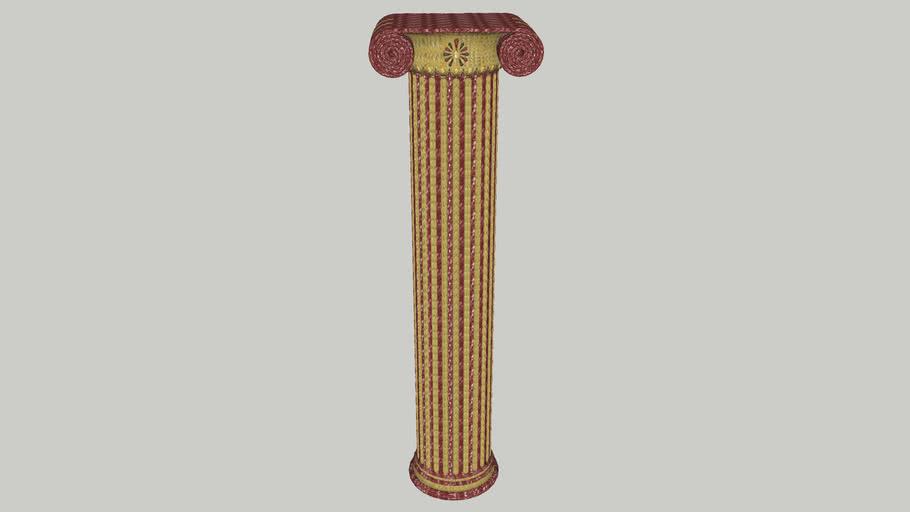Ιωνικός Κίων (βαμένος) - Ionic Column (colored)
