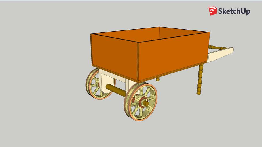 Old Style Wheel Barrow for Flower Pots