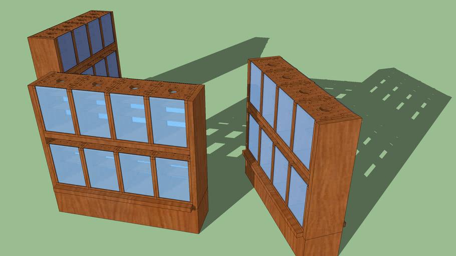 Holz Glas Spinnenterrarium