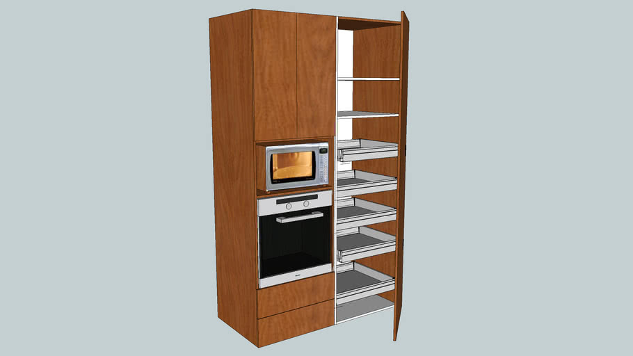 wall oven and pantry unit