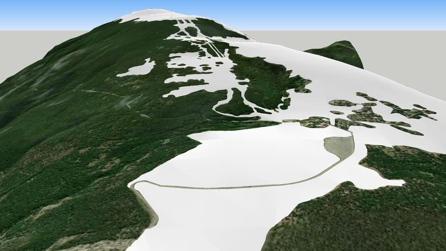 Skis ski sci Monte Piselli San Giacomo innevata