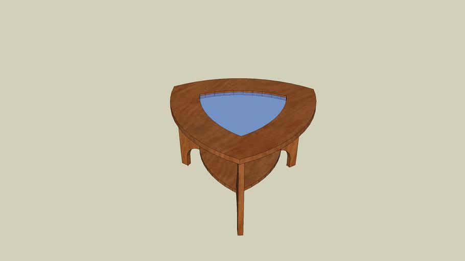 trójkątny stolik