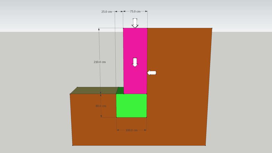 19a - Potporni zid - primjer 6 (tri sile).skp