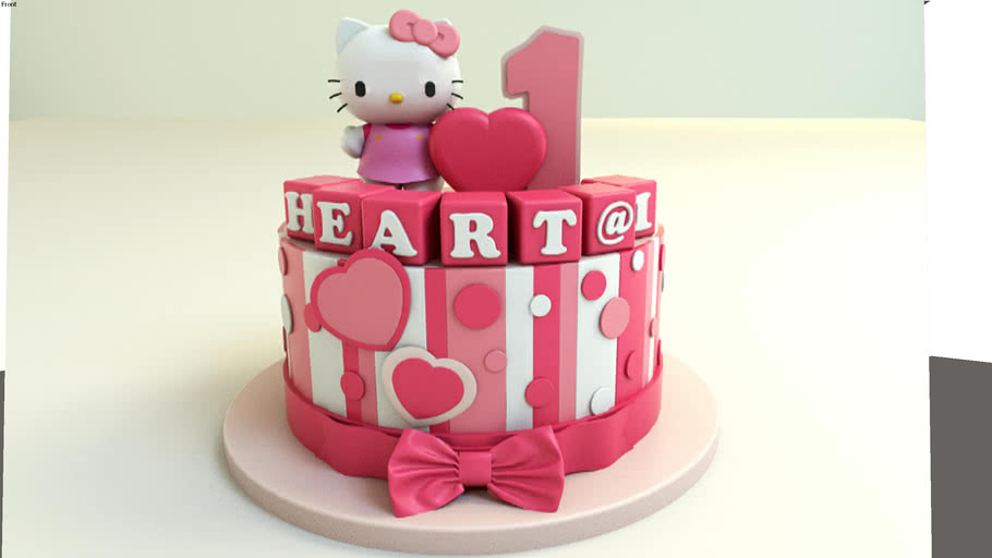 Brilliant Hello Kitty Birthday Cake 3D Warehouse Personalised Birthday Cards Cominlily Jamesorg