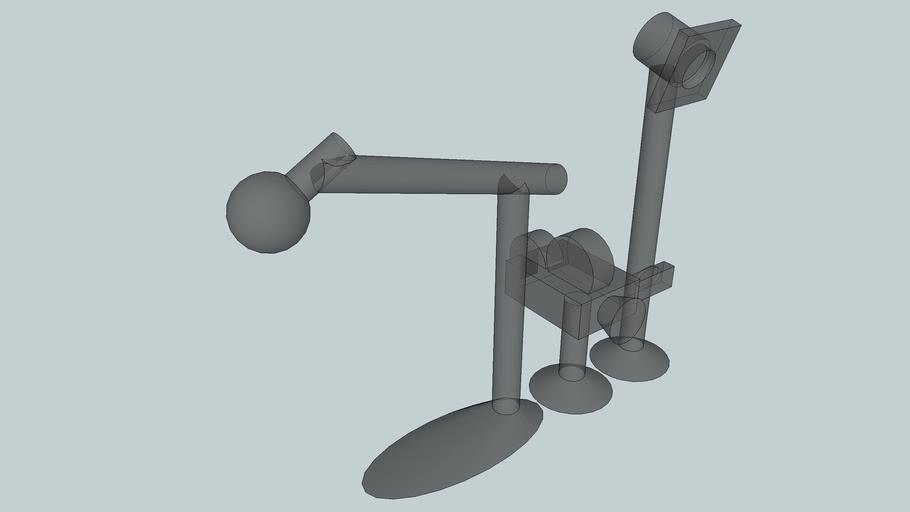 Camera projecteur microphone pour imprimante 3D, échelle d'un Petshop