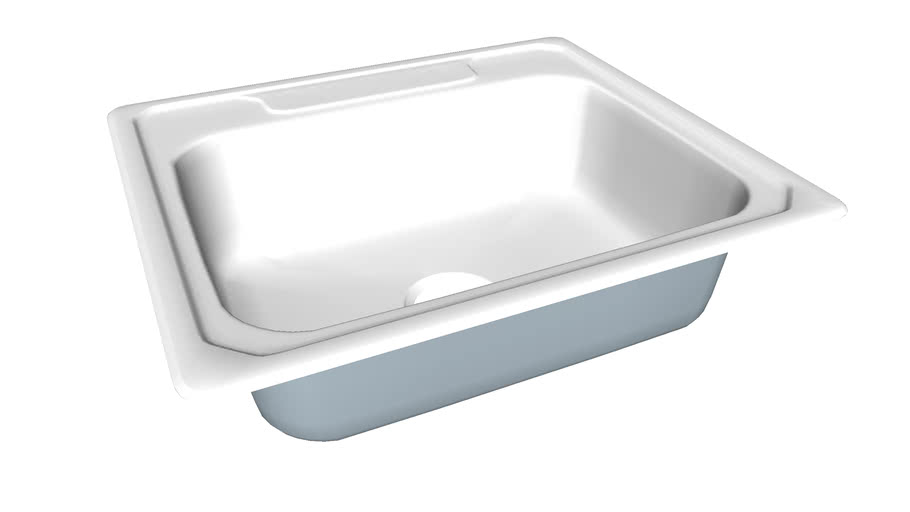 14710 3 Middleton R Top Mount Single Bowl Kitchen Sink 25 Inch X 22 Inch X 7 Inch 3d Warehouse