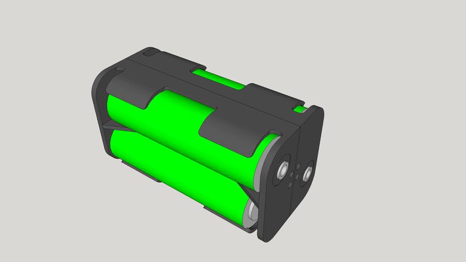 4 AA battery holder block