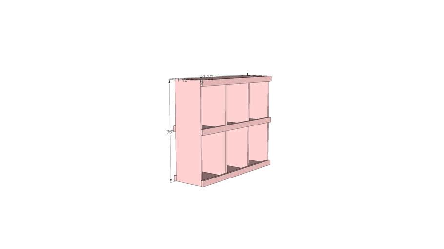 Anna White Cubby Shelves