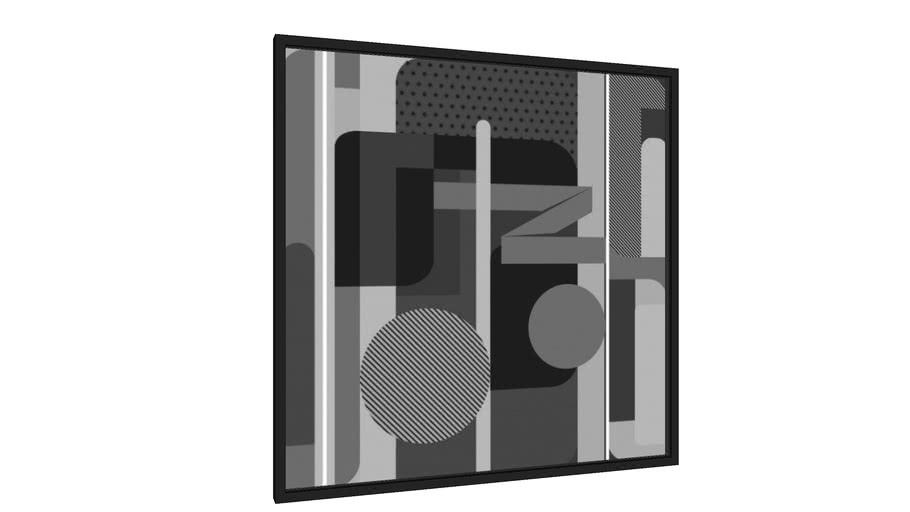 Quadro Composição Geométrica 2 - PB - Galeria9, por Farago