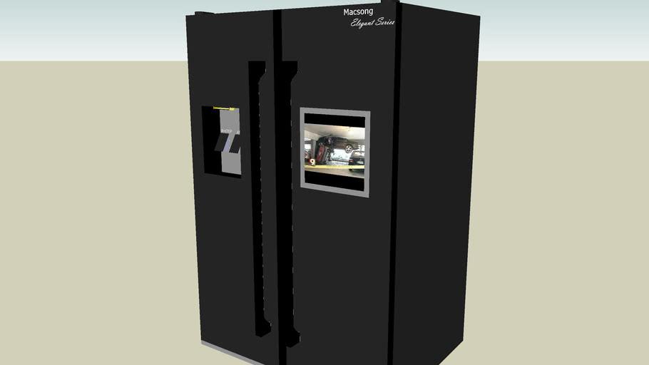 2003 Macsong Elegant Series VX620-Black Refridgerator