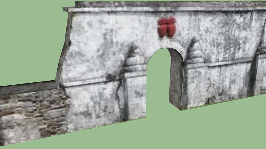 Taravai, old wall