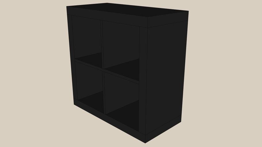 KALLAX - EXPEDIT 2x2 black-brown