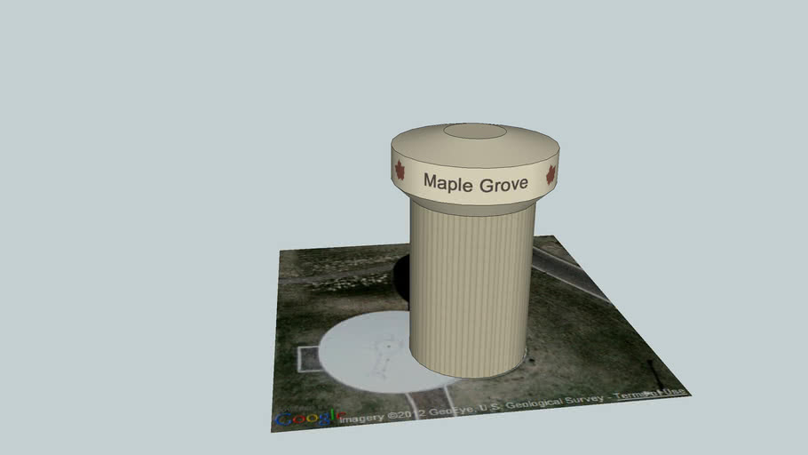 Maple Grove Water Tower - North