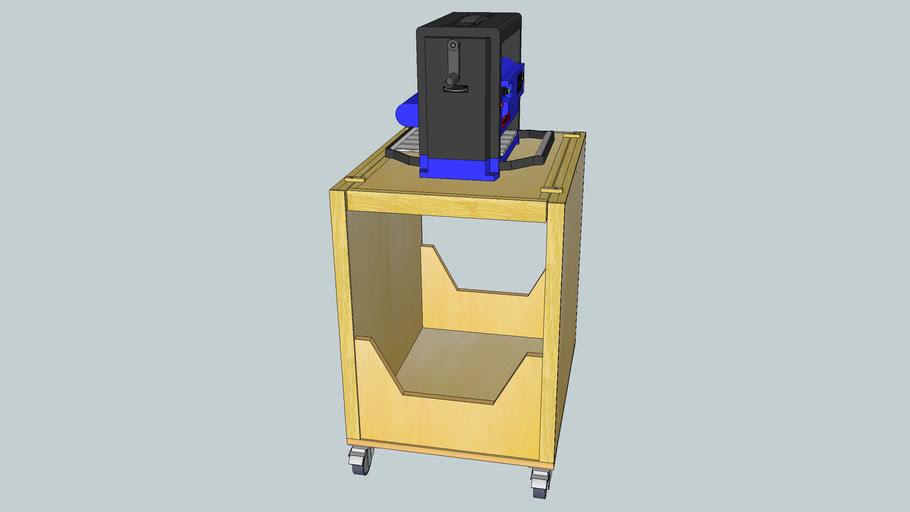 Roll-away Tilt-Top tool stand