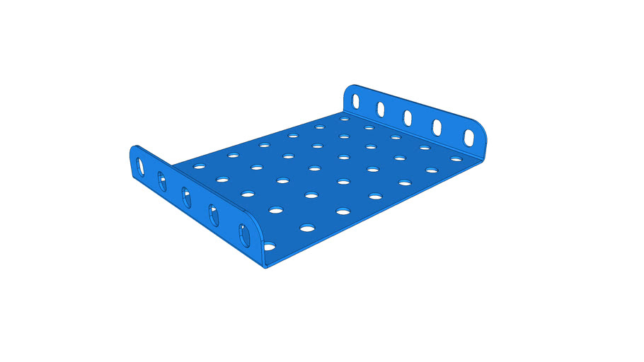 Plaque a 2 bords 5x7 trous MECCANO