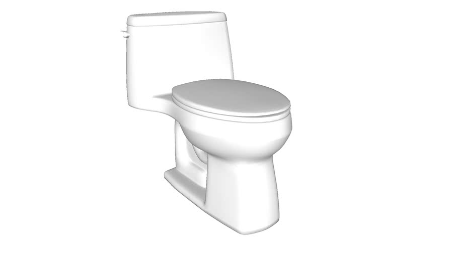 K-3810 Santa Rosa(TM) Comfort Height(R) Comfort Height(R) one-piece compact elongated 1.28 gpf toilet with AquaPiston(R) flushing technology and left-hand trip lever