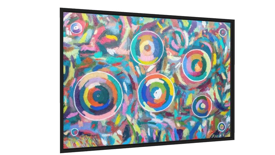 Quadro Círculos Abstratos 2 - Galeria9, por Ferrarezi