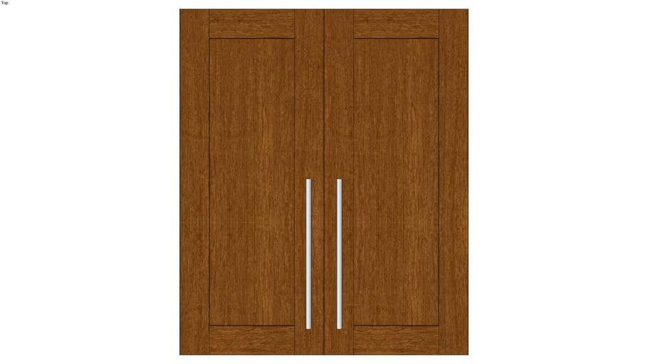 Wall Double Door 36H