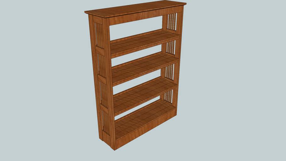 Knock-Down Cherry Bookshelf