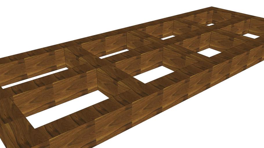 Plafon de vigas de madera