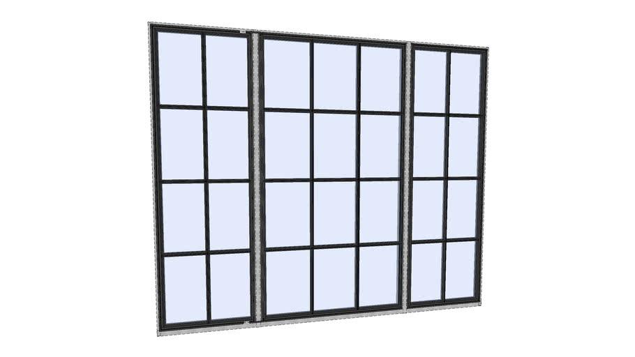 Riviera Bronze_F_Triple Bay Box Fixed Window