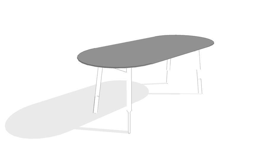Bracket Dining Table - Oval by Gus* Modern