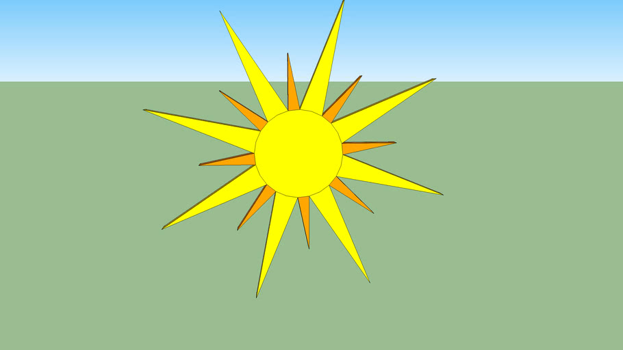 wall decoration, sun | 3D Warehouse